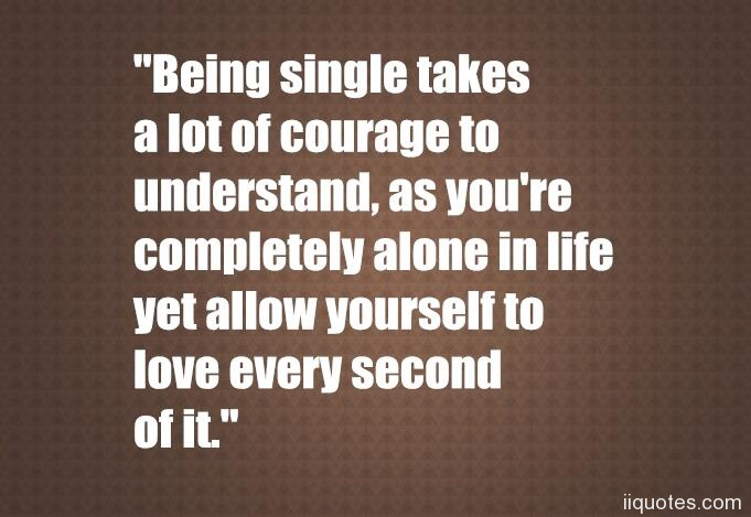 being single and alone